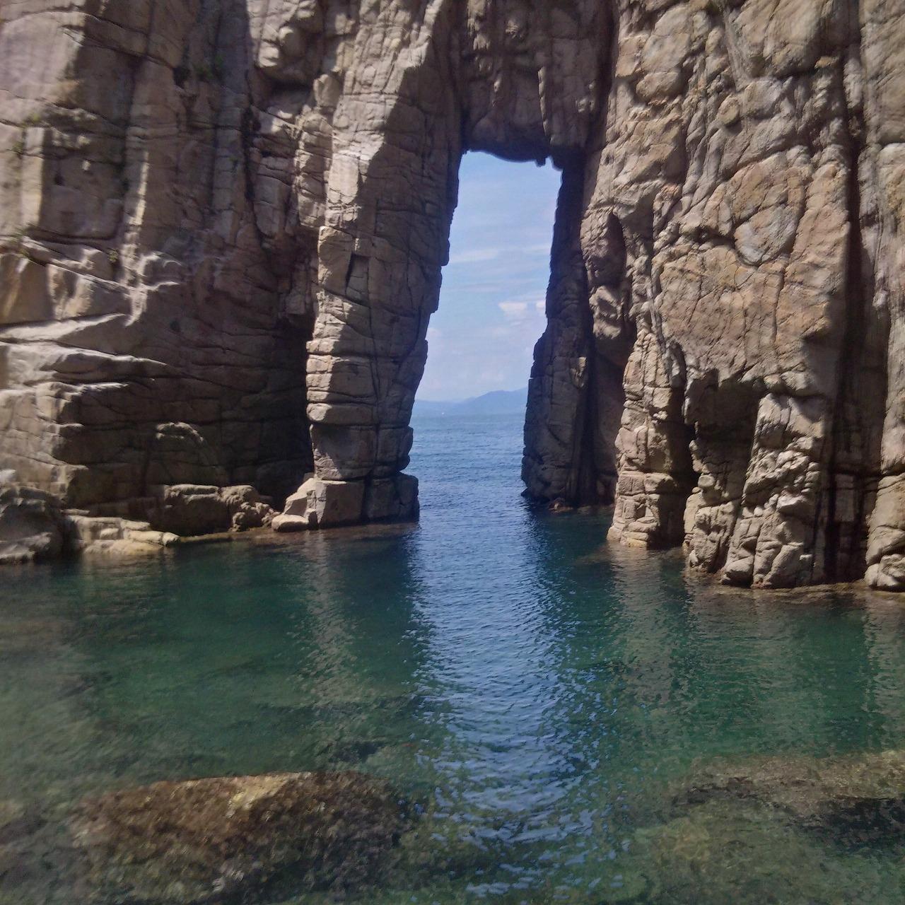 福井県の小浜湾から蘇洞門(そとも)をカヤックで見に行ったらイルカがめっちゃいた
