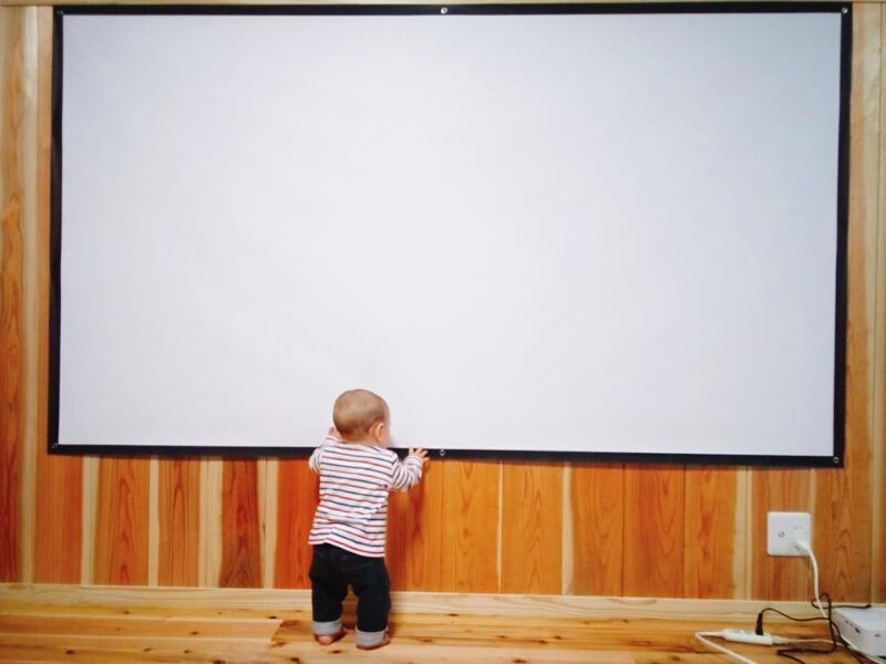 息子とスクリーン